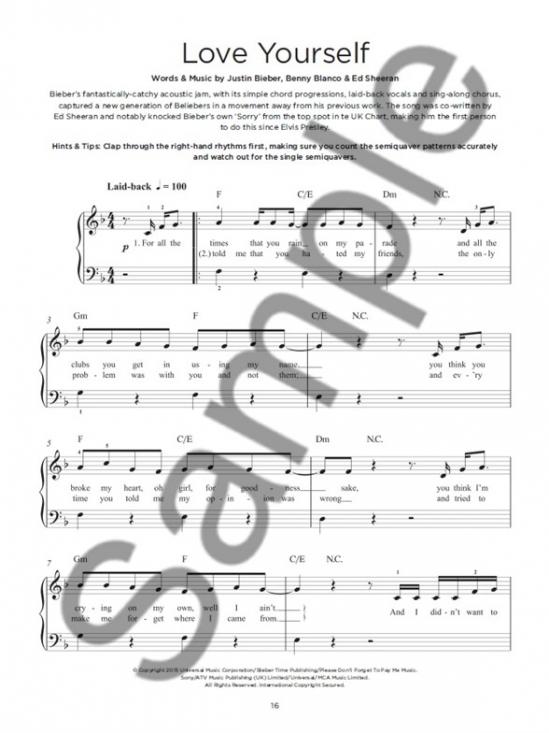 Really Easy Piano Justin Bieber | Artistalbum - Piano/Keyboard