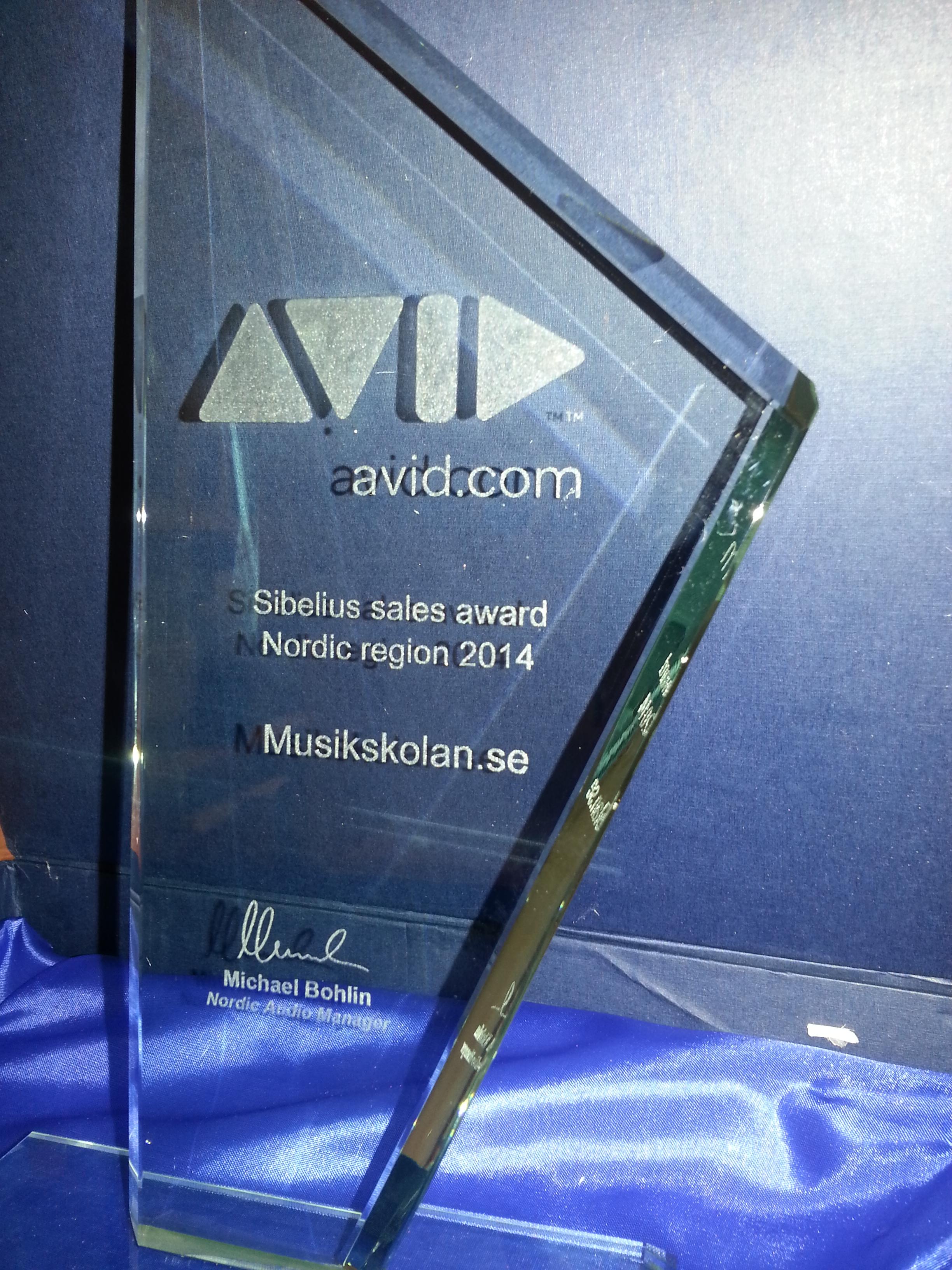 Sales Award 2014