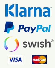 Säkra betalningar med Klarna, PayPal eller Swish